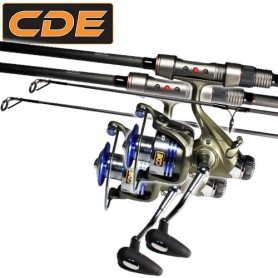 Set CDE Carp CR-02 10' 3.25lbs + CR6000 (x2)