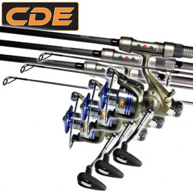 Set CDE Carp CR-02 12' 3lbs + CR6000 (x3)