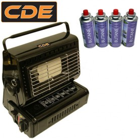 Pack CDE Gas Heater + 4 Gas
