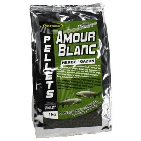 Pellets Fun Fishing Amour Blanc Herbe & Gazon 6mm 1kg