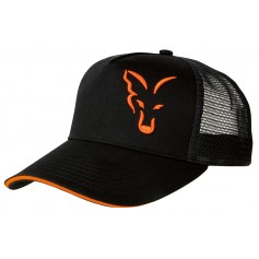 Casquette Fox Black & Orange Trucker Cap