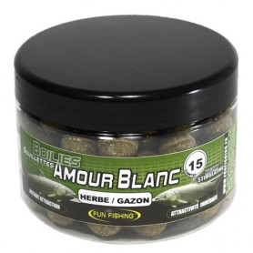 Bouilettes Fun Fishing Amour Blanc Herbe/Gazon 15mm 300g