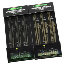 Montage Korda Leadcore Hibrid Lead Clip QC Swivel 1m