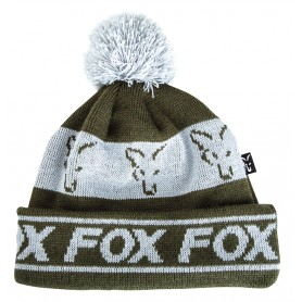 Bonnet Fox Green & Silver Lined Bobble