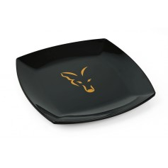 Assiette Fox Black & Logo Orange