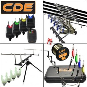 Pack CDE 4 Carp CR-02-12 BR6000 Rod Pod + Hang + Coffret first+supports