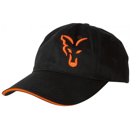 Casquette Fox Black & Orange Baseball Cap