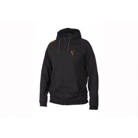 Sweat Fox Collection Black & Orange Lightweight Hoodie