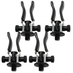 Support Arrière CDE Ajustable Rod Rest Black (x4)