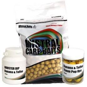 Pack Appâts Mistral Baits Banana & Toffee 5kg 20mm