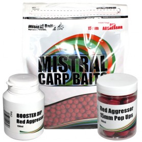 Pack Appats Mistral Baits Red Agressor 15mm 5kg
