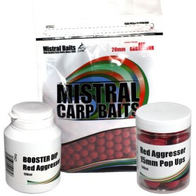 Pack Appats Mistral Baits Red Agressor 20mm 5kg