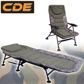 Pack Confort CDE APEX Camou Bedchair S1 6Pieds & Level Chair S1 Accoudoirs