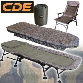 Pack Confort CDE APEX Camou Bedchair S1 8 Pieds & Level & Duvet