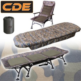 Pack Confort CDE APEX Camou Bed S1 Wide 8 Pieds & Duvet Wide & Level Reciner