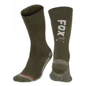 Chausettes Fox Green & Silver Thermolite Long Sock