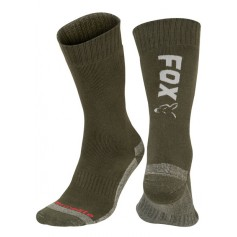 Chaussettes Fox Green & Silver Thermolite Long Sock