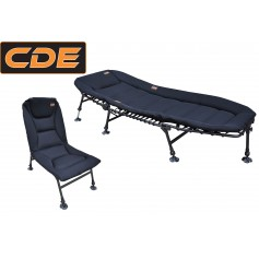 Pack Confort CDE Bedchair & Level chair Néoprène Black.