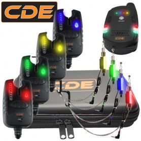 Pack CDE Receiver + 4 CDXFI Bite Alarms + Hangers