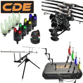 Pack CDE Evo 4 Carp CR-02-13 7000FD Rod Pod + CDXFI + Hang + Supports