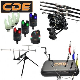 Pack CDE Evo 3 Carp CR-02-13 7000FD Rod Pod + CDXFI + Hang + Supports