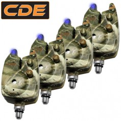 CDE 4 Camo Bite Alarms Eco Blue